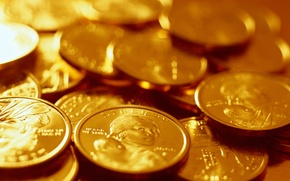 Wallpaper gold, money, coins
