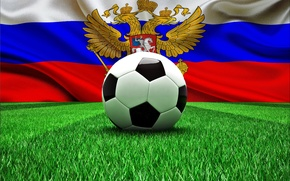 Picture football, the ball, flag, Russia, football, flag, world Cup, World Cup, Brasil, FIFA, 2014