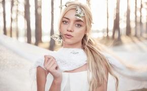 Picture girl, butterfly, fantasy, Ƹ̵̡Ӝ̵̨̄Ʒ