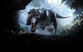 Picture predator, Dinosaur, tireks, toothy, tyranosaur Rex, predatory, bloodthirsty, Back to Dinosaur Island