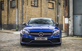 Wallpaper Mercedes-Benz, Coupe, C-Class, Mercedes, AMG, blue, C205