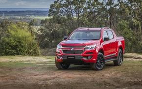 Picture Red, Car, Crew, Colorado, Holden, Cab, Z71, 2016, Metallic