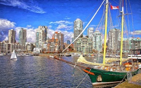 Picture Canada, Marina, ship, the city