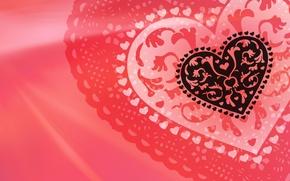 Wallpaper heart, red, Valentine, Valentine's Day, Heart, Valentine's Day. Valentine, fishnet