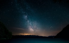 Picture space, stars, night, panorama, the milky way