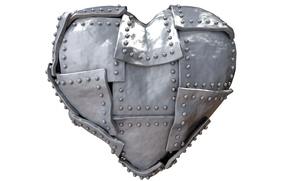 Picture rendering, heart, metal, heart, steel, iron
