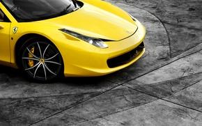 Picture Ferrari, Ferrari, yellow, 458, yellow, Italy, Italia