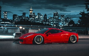 Picture City, Ferrari, Red, 458, Body, Italia, Kit, Liberty, Walk