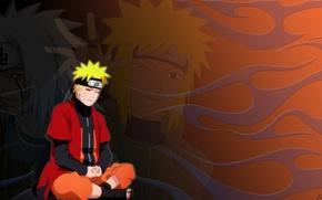 Picture cloak, Naruto, jiraiya, Minato, The mode of a hermit