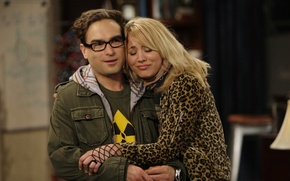 Picture the series, The big Bang theory, Leonard, penny, characters