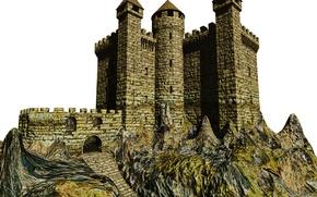 Picture photo, Castle, Stone, 3D Graphics