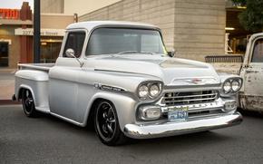Picture retro, classic, Chevy, 1959, Apache 3100