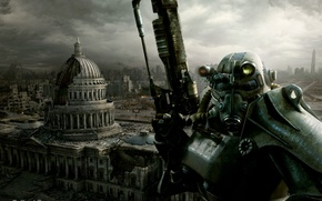 Picture the city, ruins, fallout 3