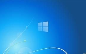 Picture blue, background, Microsoft, Windows 8