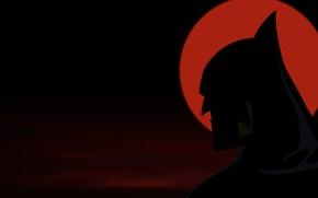 Picture sunset, silhouette, Batman, superhero, comic