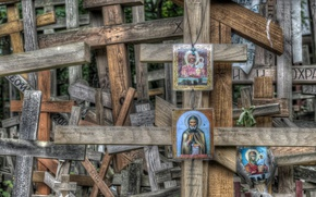 Picture crosses, religion, icons