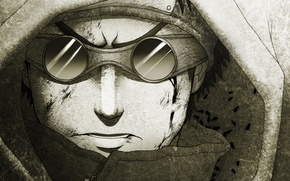 Picture figure, glasses, hood, guy, naruto, linnyxito, aburame shino