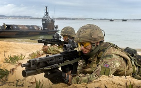 Picture Camouflage, SA80, Heckler & Koch AG-36, Royal Marines