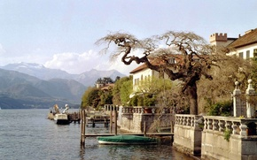Picture the city, lake, Italy, Villa
