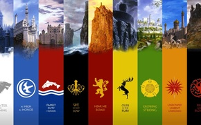 Picture coat of arms, coat of arms, Winterfell, game of thrones, Game of thrones