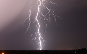 Picture the sky, night, lightning