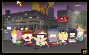Wallpaper coon, super heroes, Captain obvious, cap, South Park, team, raccoon