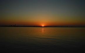 Picture sky, sea, landscape, sun