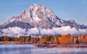Picture landscape, mountains, lake