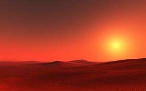 Wallpaper sugar, desert, sunset, Sahara