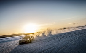 Picture snow, McLaren, speed, supercar, McLaren