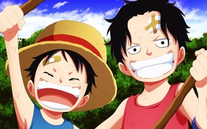 Picture game, One Piece, pirate, hat, anime, boy, captain, warrior, manga, japanese, Portgas D. Ace, oriental, …
