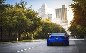 Picture the city, Subaru, sports car, blue, blue, Subaru, brz, quick