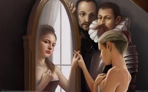 Picture reflection, girls, magic, mirror, men, Corrado Vanelli