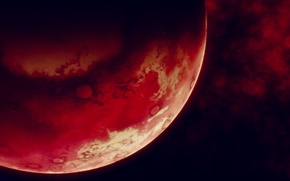 Picture space, surface, planet, red