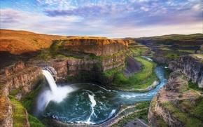 Picture landscape, mountains, nature, waterfall, beauty, beautiful, lepota