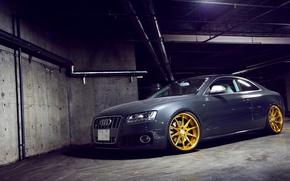 Picture grey, Audi, Audi, sports car, grey, tuning