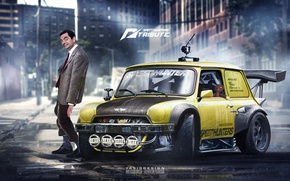 Picture Mini, Cooper, Yellow, Speedhunters, by Yasiddesign, Mr Bean, Concept Tuning