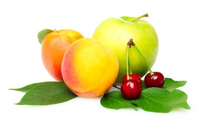 Picture Apple, peaches, cherry