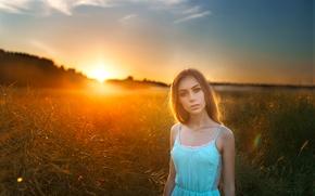 Picture Girl, Dasha, Sunset, Beauty, Eyes, View, Mood, Russian, Portrait, Woman, Imwarrior