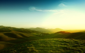Picture the sky, grass, CA, the California hills, californian hills