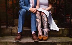 Picture people, feet, tattoo, tattoo