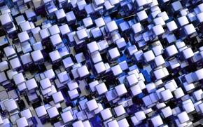 Picture mosaic, cubes, texture