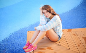 Picture Girl, Look, Asian, Nike, Sneakers