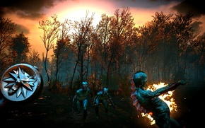 Picture swamp, Sunset, Geralt, The Witcher 3 Wild Hunt, game of the year, game of the …