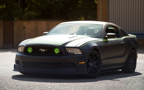 Picture Mustang, Ford, Black, RTR, Matte