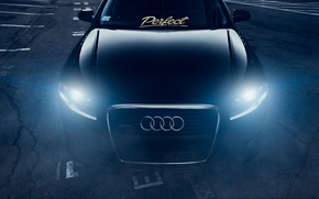 Picture Audi, Dark, Front, Black, Stance, Slammed, Vehicle, Ligth