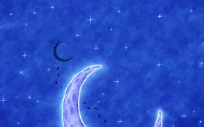 Wallpaper the sky, style, the moon, figure, vlad