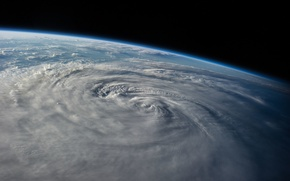 Picture space, earth, planet, Typhoon Halong