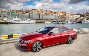 Picture the sky, clouds, the city, Mercedes-Benz, E-Class, Mercedes, W213