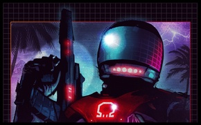 Picture helmet, art, Ubisoft Montreal, Far Cry 3: Blood Dragon